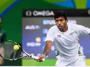 Rohan Bopanna during the Mixed Doubles match against Australia