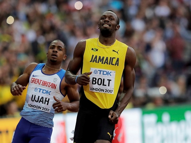 Usain Bolt, Usain Bolt Farewell, Usain Bolt 100-m farewell race, Justin Gatlin, World Athletics Championships, London, Jamaica