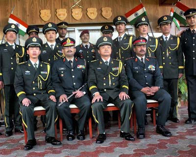 Indian, Chinese army officials at a special Border Personnel Meet