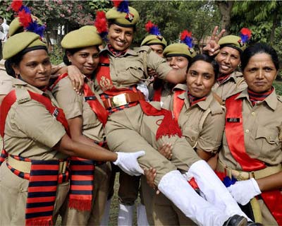Women constables jubilate