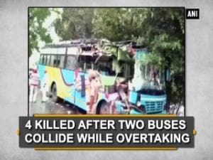 4 killed after two buses collide while overtaking
