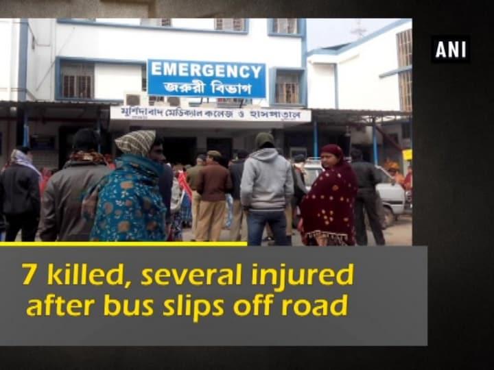 7 killed, several injured after bus slips off road