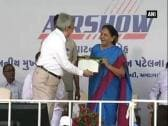Airplanes demonstrate aerobatics at air show in Gujarat