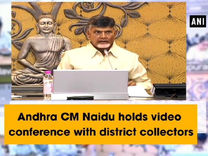 Andhra CM Naidu holds video conference with district collectors
