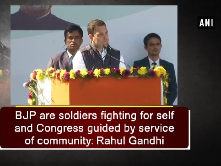 BJP are soldiers fighting for self and Congress guided by service of community: Rahul Gandhi