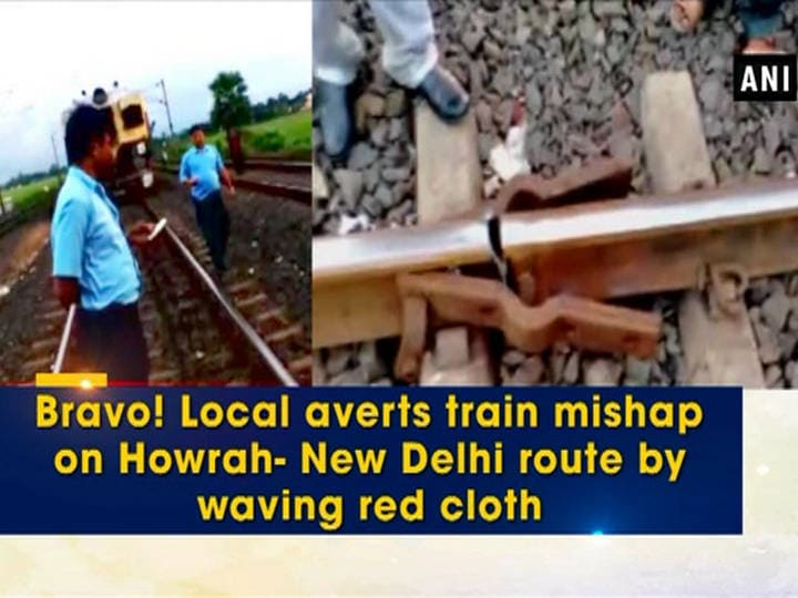Bravo! Local averts train accident by waving red cloth upon seeing loose fishplates