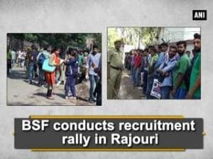 BSF conducts recruitment rally in Rajouri