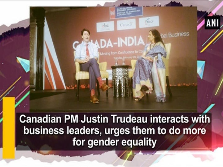 Canadian PM Justin Trudeau interacts with business leaders, urges them to do more for gender equality