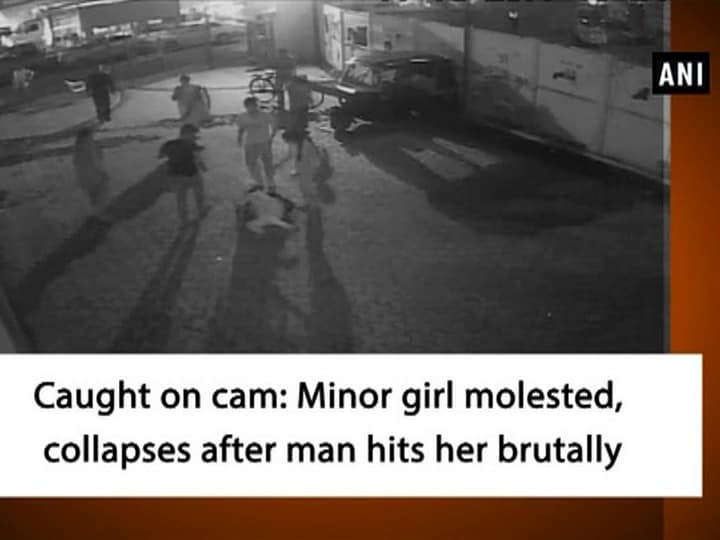 Caught on cam: Minor girl molested, collapses after man hits her brutally