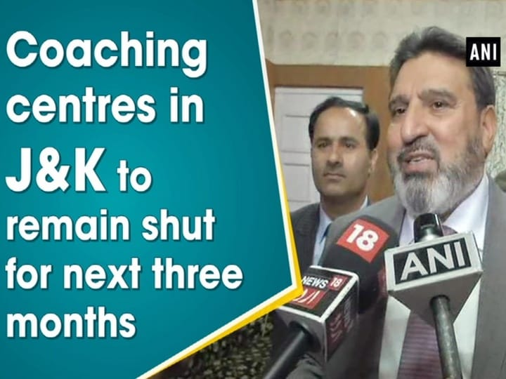 Coaching centres in J and K to remain shut for next three months