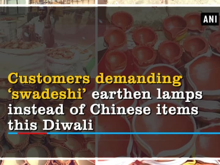 Customers demanding 'swadeshi' earthen lamps instead of Chinese items this Diwali