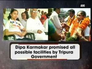 Dipa Karmakar promised all possible facilities by Tripura Government