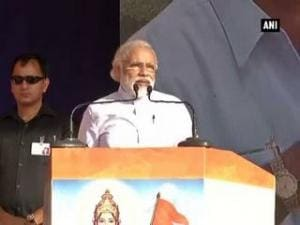 Entire nation pitching for Congress free India: PM Modi