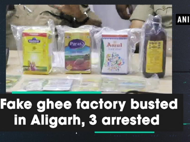 Fake ghee factory busted in Aligarh, 3 arrested