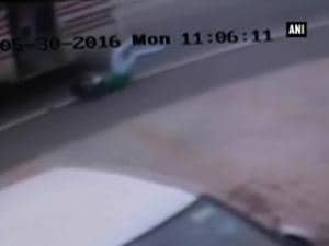 Girl killed after falling from moving bus