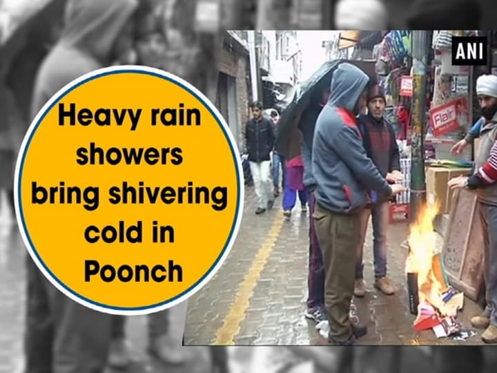 Heavy rain showers bring shivering cold in Poonch