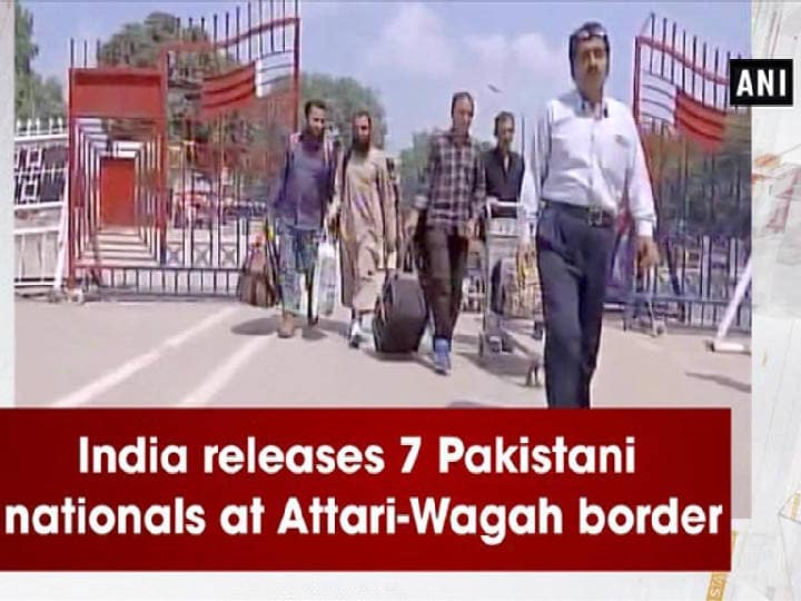 India releases 7 Pakistani nationals at Attari-Wagah border
