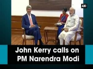 John Kerry calls on PM Narendra Modi