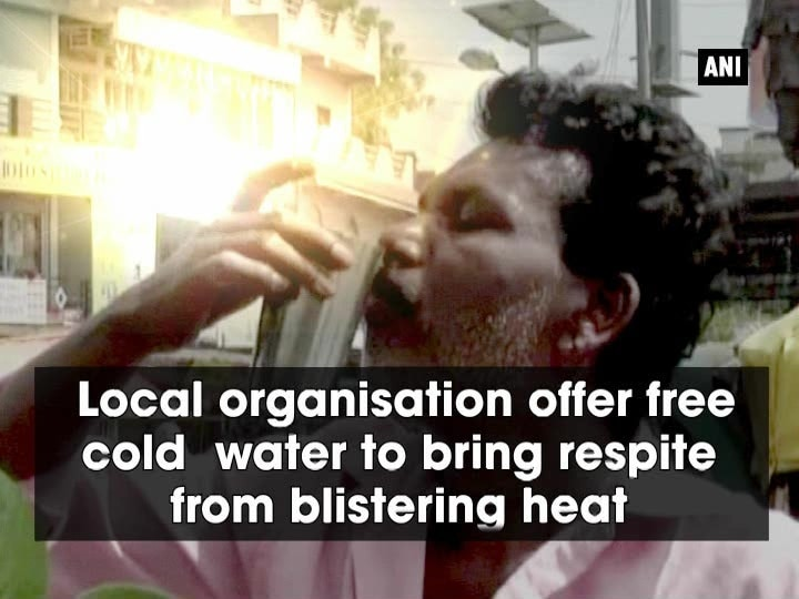 Local organisation offer free cold water to bring respite from blistering heat