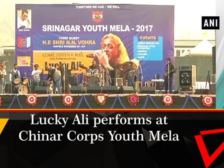 Lucky Ali performs at Chinar Corps Youth Mela