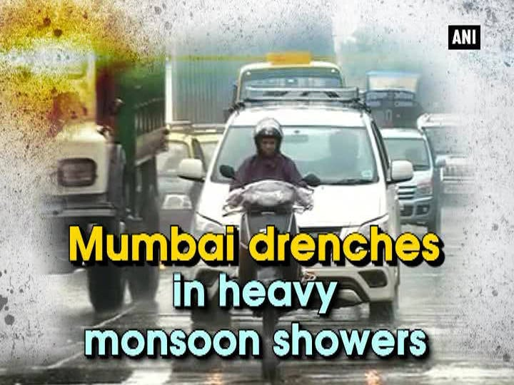 Mumbai drenches in heavy monsoon showers