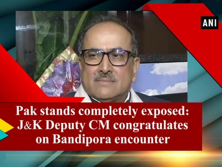 Pak stands completely exposed: J and K Deputy CM congratulates on Bandipora encounter