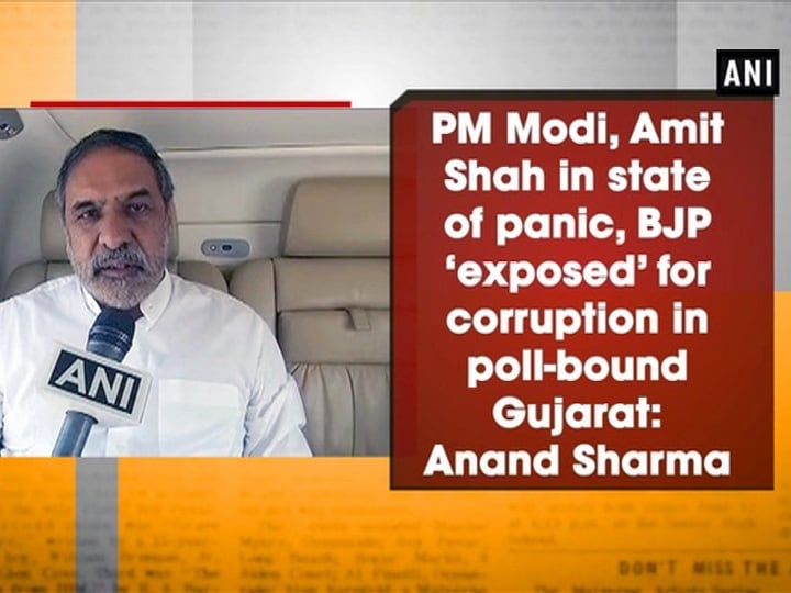 PM Modi, Amit Shah in state of panic, BJP 'exposed' for corruption in poll-bound Gujarat: Anand Sharma