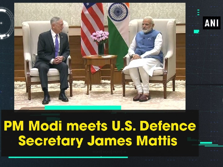 PM Modi meets U.S. Defence Secretary James Mattis