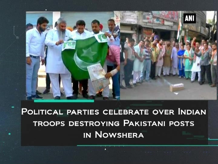 Political parties celebrate over Indian troops destroying Pakistani posts in Nowshera
