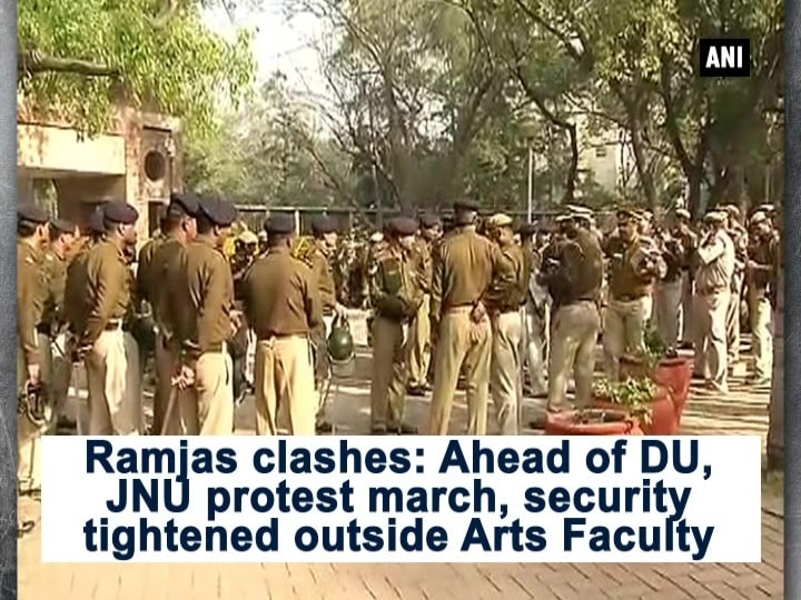 Ramjas clashes: Ahead of DU, JNU protest march, security tightened outside Arts Faculty