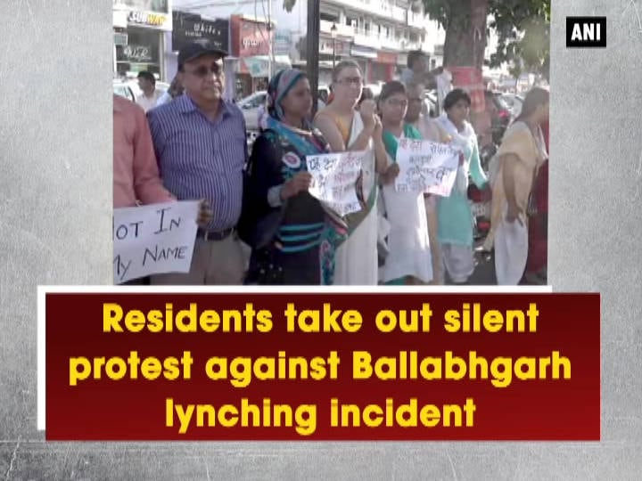 Residents take out silent protest against Ballabhgarh lynching incident