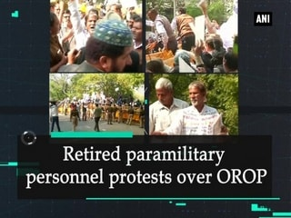 Retired paramilitary personnel protests over OROP