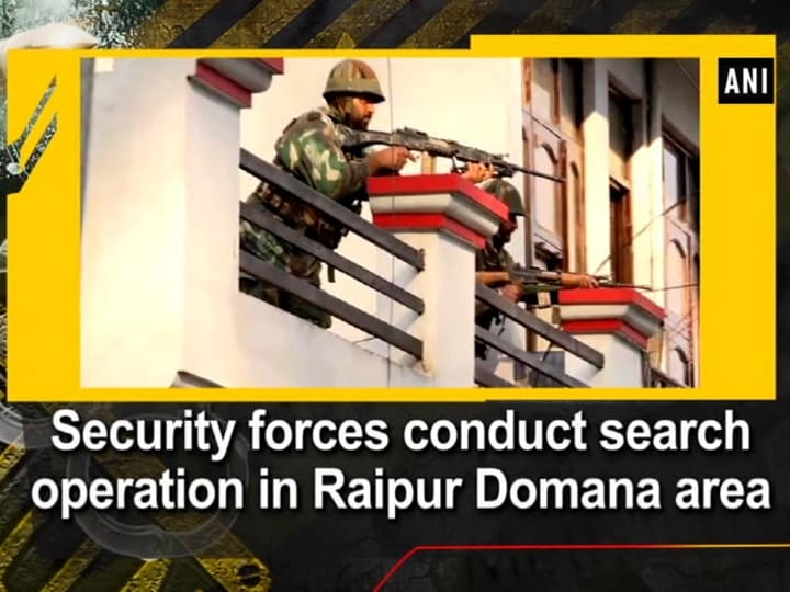 Security forces conduct search operation in Raipur Domana area