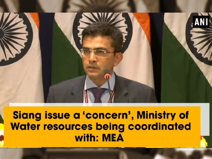 Siang issue a 'concern', Ministry of Water resources being coordinated with: MEA
