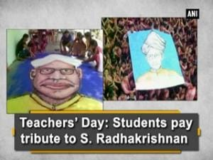 Teachers' Day: Students pay tribute to S. Radhakrishnan