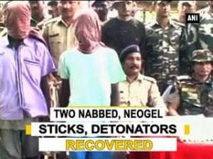 Two nabbed, neogel sticks, detonators recovered