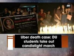 Uber death case: DU students take out candlelight march