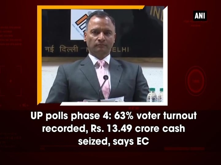 UP polls phase 4: 63% voter turnout recorded, Rs. 13.49 crore cash seized, says EC
