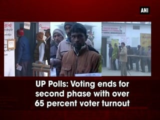 UP Polls: Voting ends for second phase with over 65 percent voter turnout