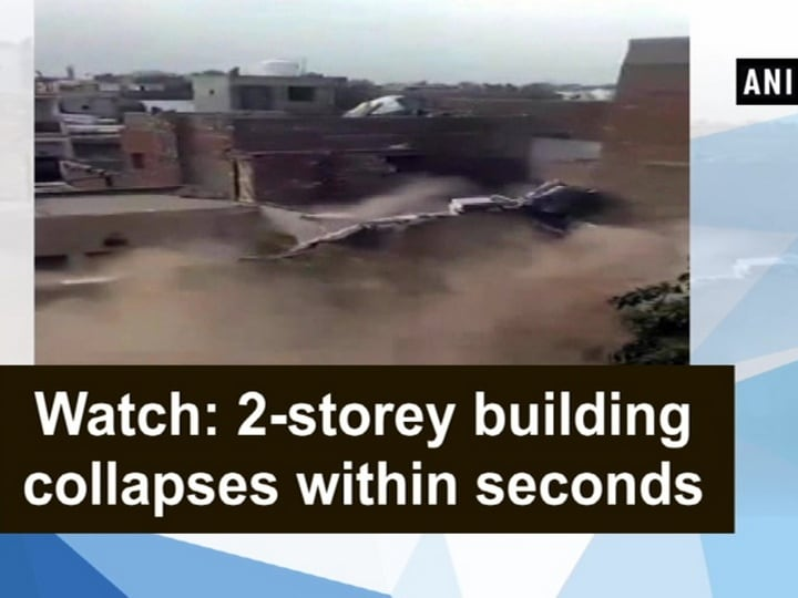 Watch: 2-storey building collapses within seconds