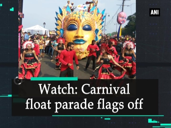 Watch: Carnival float parade flags off
