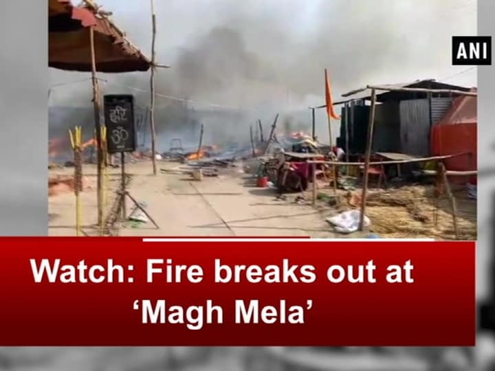 Watch: Fire breaks out at 'Magh Mela'