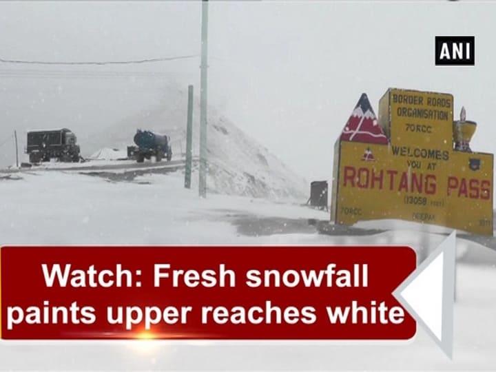 Watch: Fresh snowfall paints upper reaches white