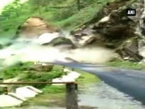 Watch: Landslide in Uttarkashi blocks highway