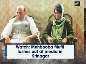Watch: Mehbooba Mufti lashes out at media in Srinagar