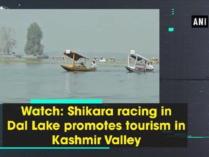 Watch: Shikara racing in Dal Lake promotes tourism in Kashmir Valley