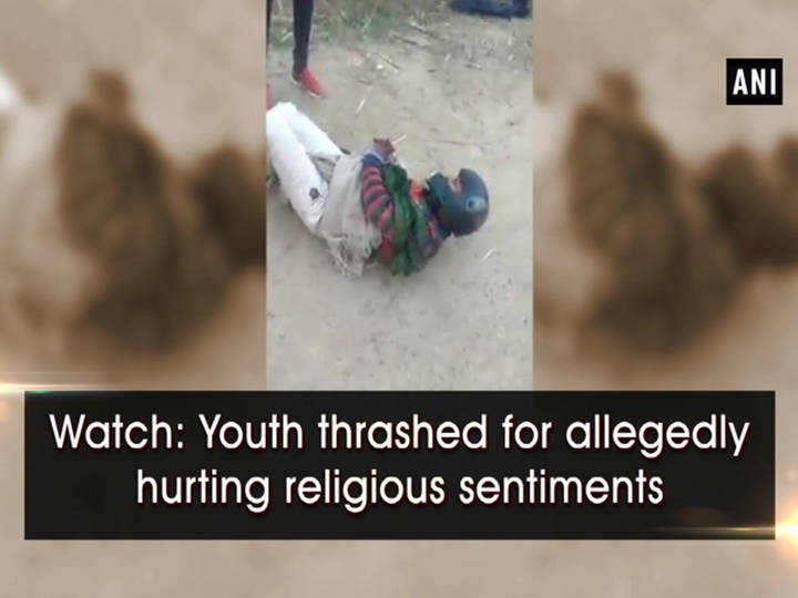 Watch: Youth thrashed for allegedly hurting religious sentiments