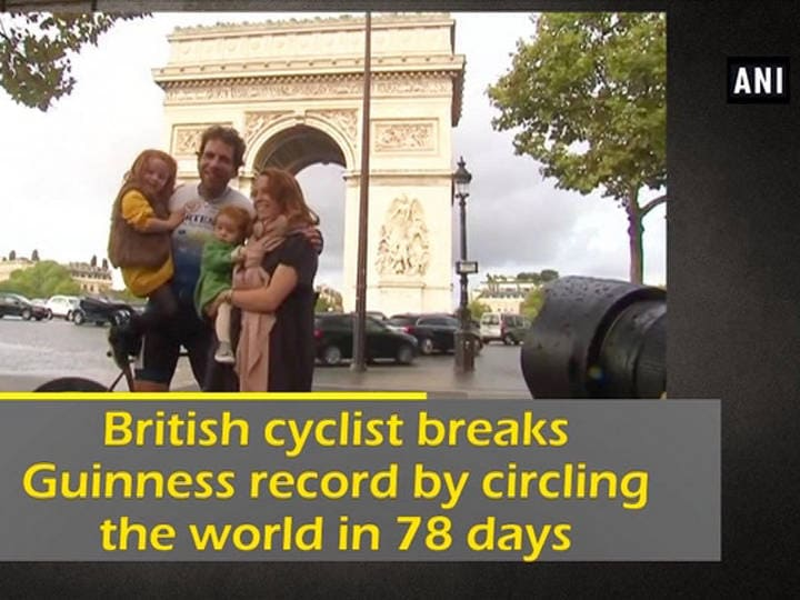British cyclist breaks Guinness record by circling the world in 78 days