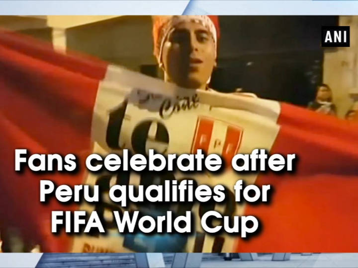 Fans celebrate after Peru qualifies for FIFA World Cup