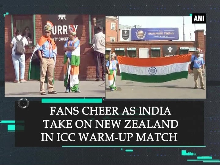 Fans cheer as India take on New Zealand in ICC warm-up match